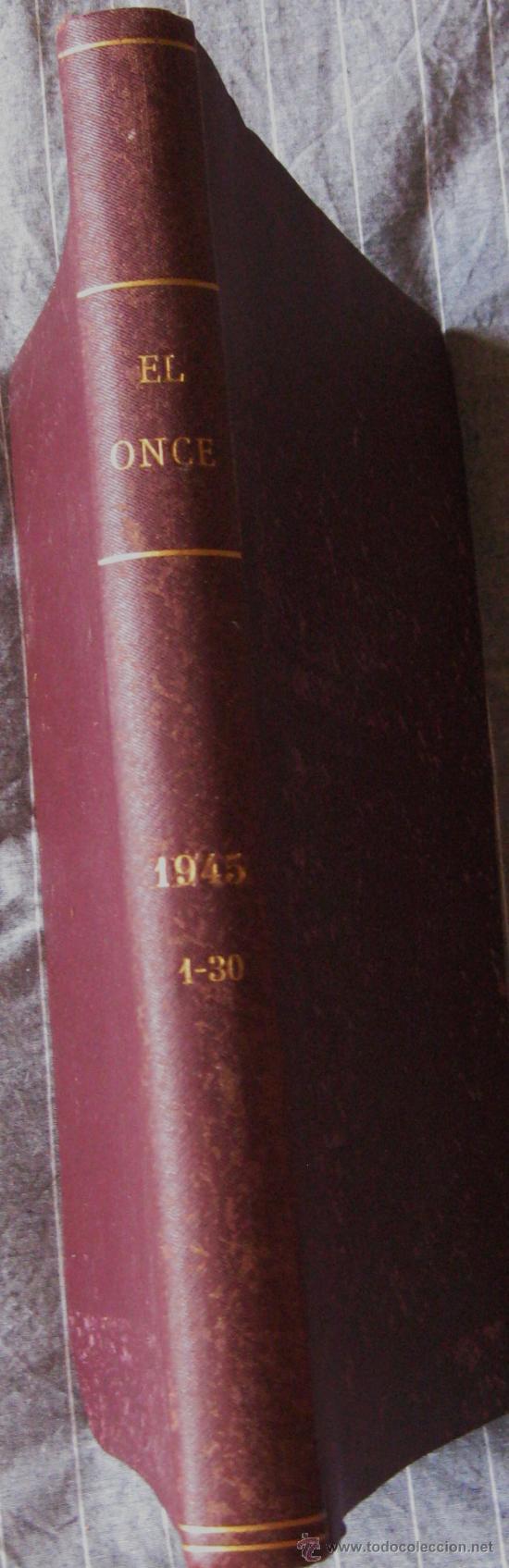 ONCE. REVISTA FUTBOL,HUMOR,CARICATURAS....AÑO 1945 Nº DEL 1 AL 30 ENCUADERNADOS. (Coleccionismo Deportivo - Revistas y Periódicos - otros Deportes)