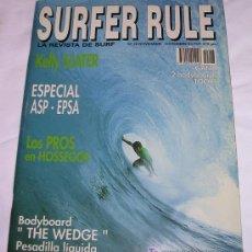 Coleccionismo deportivo: SURFER RULE - NÚMERO 28 - NOVIEMBRE - DICIEMBRE 1994 - B. ESTADO GENERAL - TEMA SURF. Lote 165401184