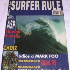 Coleccionismo deportivo: SURFER RULE - NÚMERO 30 - MARZO - ABRIL - 1995 - B. ESTADO GENERAL - TEMA SURF. Lote 137865236