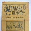 Coleccionismo deportivo: MATARÓ DEPORTIU. ANY III, NÚM. 112. 1924. 24 PÁG. 35 X 25 CM.. Lote 20234090