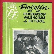 Coleccionismo deportivo: REVISTA DE FUTBOL, BOLETIN FEDERACION VALENCIANA Nº 36 , ENERO 1956. Lote 21570218