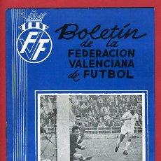 Coleccionismo deportivo: REVISTA DE FUTBOL, BOLETIN FEDERACION VALENCIANA Nº 85 , ENERO 1961. Lote 21570242