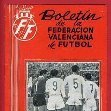 Coleccionismo deportivo: REVISTA DE FUTBOL, BOLETIN FEDERACION VALENCIANA Nº 37 , ENERO 1957. Lote 21570276
