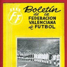 Coleccionismo deportivo: REVISTA DE FUTBOL, BOLETIN FEDERACION VALENCIANA Nº 65 , ENERO 1959. Lote 21570285