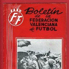 Coleccionismo deportivo: REVISTA DE FUTBOL, BOLETIN FEDERACION VALENCIANA Nº 72 , ENERO 1960. Lote 21570315
