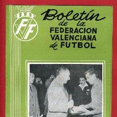 Coleccionismo deportivo: REVISTA DE FUTBOL, BOLETIN FEDERACION VALENCIANA Nº 71 , ENERO 1959. Lote 21570325