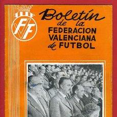 Coleccionismo deportivo: REVISTA DE FUTBOL, BOLETIN FEDERACION VALENCIANA Nº 70 , ENERO 1959. Lote 21570334
