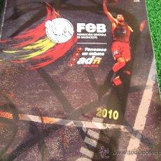 Coleccionismo deportivo: BALONCESTO-FEB-AGOSTO 2010-FOTOS FIRMADAS-IMPRESAS. Lote 22349667