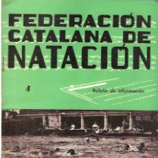 Coleccionismo deportivo: BOLETIN FEDERACION CATALANA NATACION Nº4 1944. Lote 24763578