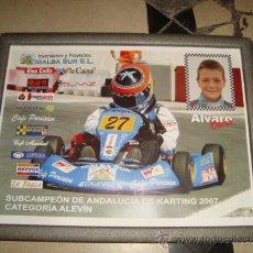 Coleccionismo deportivo: MARCO CON CARTEL SUBCAMPEON DE ANDALUCIA DE KARTING 2007 , CATEGORIA ALEVIN, ENMARCADO 29,5 X 23 CM. Lote 24807628
