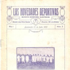 Coleccionismo deportivo: LAS NOVEDADES DEPORTIVAS-REVISTA QUINCENAL ILUSTRADA-MED. 15X21CM. SANTANDER AÑO 1919-NUM 2- (V-32) . Lote 26350037