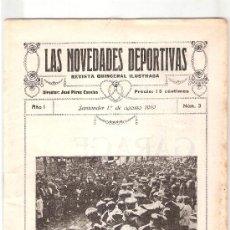Coleccionismo deportivo: LAS NOVEDADES DEPORTIVAS-REVISTA QUINCENAL ILUSTRADA-MED. 15X21CM. SANTANDER AÑO 1919-NUM 3- (V-33) . Lote 26350168