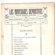 Coleccionismo deportivo: LAS NOVEDADES DEPORTIVAS-REVISTA QUINCENAL ILUSTRADA-MED. 15X21CM. SANTANDER AÑO 1919-NUM 5- (V-35) . Lote 26350278