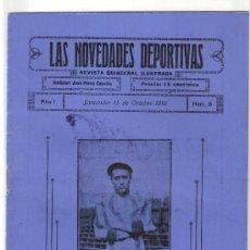 Coleccionismo deportivo: LAS NOVEDADES DEPORTIVAS-REVISTA QUINCENAL ILUSTRADA-MED. 15X21CM. SANTANDER AÑO 1919-NUM 8- (V-36) . Lote 26350326
