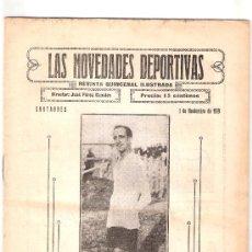 Coleccionismo deportivo: LAS NOVEDADES DEPORTIVAS-REVISTA QUINCENAL ILUSTRADA-MED. 15X21CM. SANTANDER AÑO 1919-NUM 9- (V-38) . Lote 26350432