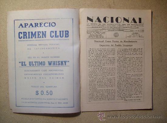 Coleccionismo deportivo: 1953 REVISTA CLUB NACIONAL DE FOOTBALL, FUTBOL URUGUAY. MAGAZINE N° 90 - JUAN TISCORNIA (CICLISMO) - Foto 2 - 26575710