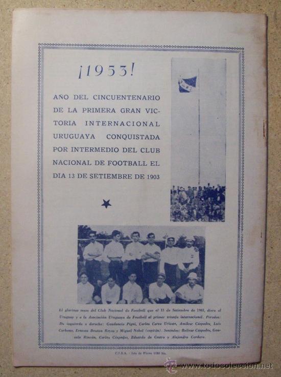 Coleccionismo deportivo: 1953 REVISTA CLUB NACIONAL DE FOOTBALL, FUTBOL URUGUAY. MAGAZINE N° 90 - JUAN TISCORNIA (CICLISMO) - Foto 4 - 26575710