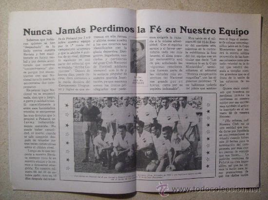 Coleccionismo deportivo: 1953 REVISTA CLUB NACIONAL DE FOOTBALL, FUTBOL URUGUAY. MAGAZINE N° 90 - JUAN TISCORNIA (CICLISMO) - Foto 5 - 26575710