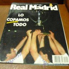 Coleccionismo deportivo: REV. MENSUAL Nº 4 7/1989 REAL MADRID- -FUTBOL88/89 -VIVERO FUTBOLISTAS-BALONCESTO C.F. 88/89. Lote 27645281