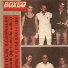 Collezionismo sportivo: REVISTA BOXEO Nº 31 AGOSTO 1961. Lote 28873735
