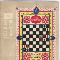 Coleccionismo deportivo: JAQUE MATE--REVISTA DE AJEDREZ-CUBANA DE 1968. Lote 29555047