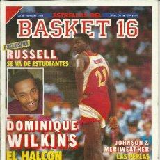 Coleccionismo deportivo: BALONCESTO, REVISTA BASKET 16, Nº 16 DE 1988. Lote 29835479