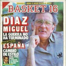 Coleccionismo deportivo: BALONCESTO, REVISTA BASKET 16, Nº 42 DE 1988. Lote 67093074