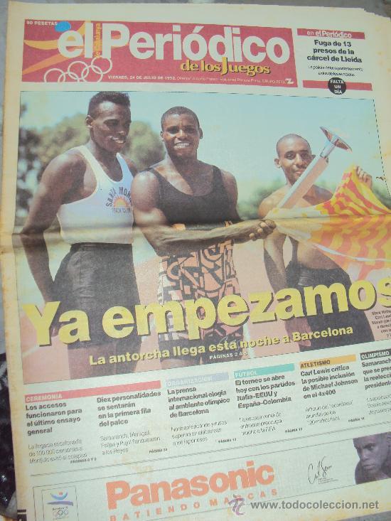 BARCELONA 92 : EL PERIODICO DE LOS JUEGOS - (Coleccionismo Deportivo - Revistas y Periódicos - otros Deportes)