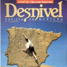 Coleccionismo deportivo: DESNIVEL.REVISTA DE MONTAÑA.Nº 201.AGOSTO 2003.ESPECIAL ESCUELAS.LAS 100 MEJORES.. Lote 33716442