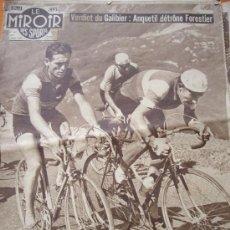 Coleccionismo deportivo: 3 REVISTAS LE MIROIR DES SPORTS, 1 SPECIAL TOUR 1956 + 2 TOUR 1957. Lote 34338372