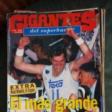 Coleccionismo deportivo: REVISTA BALONCESTO GIGANTES BASKET SABONIS 494 REAL MADRID CAMPEON COPA EUROPA 1995 . Lote 34608993