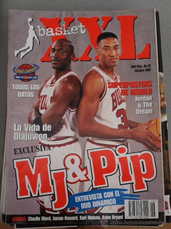 REVISTA BALONCESTO NBA XXL BASKET 26 MICHAEL JORDAN SCOTTIE PIPPEN OPEN  MCDONALDS 1997 CHICAGO BULL ( c7934f81831b2