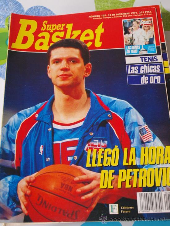 REVISTA BALONCESTO NBA SUPERBASKET 107 1991 DRAZEN PETROVIC NEW JERSEY NETS (Coleccionismo Deportivo - Revistas y Periódicos - otros Deportes)