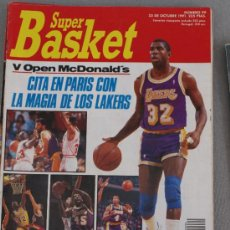 Coleccionismo deportivo: REVISTA BALONCESTO NBA SUPERBASKET 100 MAGIC JOHNSON ESPECIAL OPEN MCDONALDS PARIS 1991. Lote 34609438