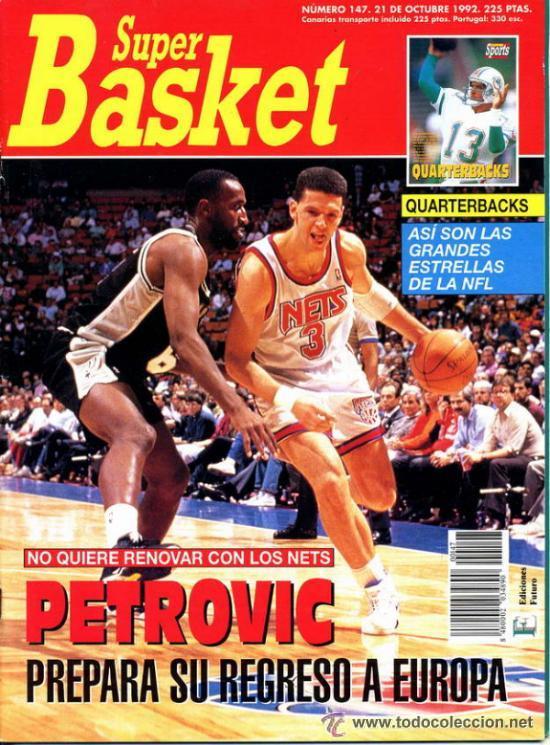 REVISTA BALONCESTO NBA 1991 SUPERBASKET 147 DRAZEN PETROVIC NEW JERSEY NETS (Coleccionismo Deportivo - Revistas y Periódicos - otros Deportes)