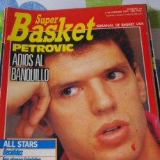 Coleccionismo deportivo: REVISTA BALONCESTO NBA 1991 SUPERBASKET 66 DRAZEN PETROVIC SUPERBOWL GIANTS CAMPEONES . Lote 34638884