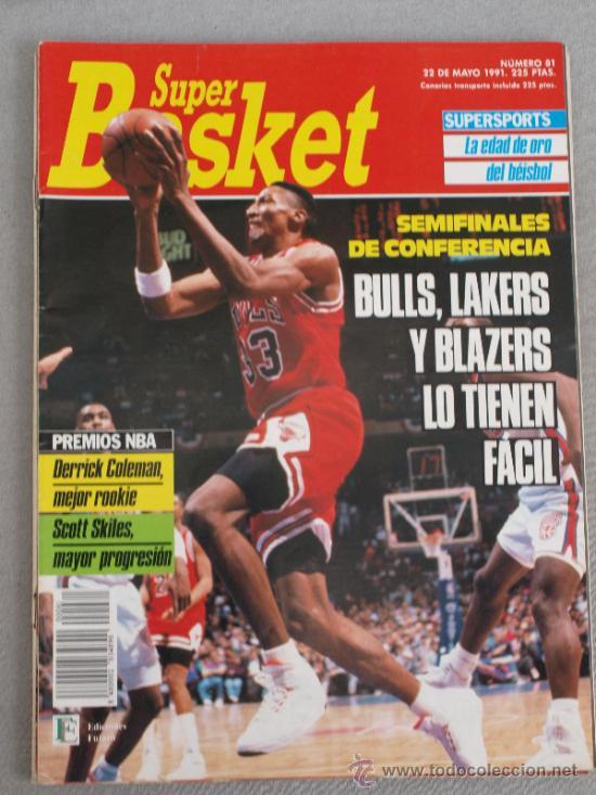 REVISTA BALONCESTO NBA 1991 SUPERBASKET 81 SCOTTIE PIPPEN CHICAGO BULLSNBA PLAYOFFS (Coleccionismo Deportivo - Revistas y Periódicos - otros Deportes)