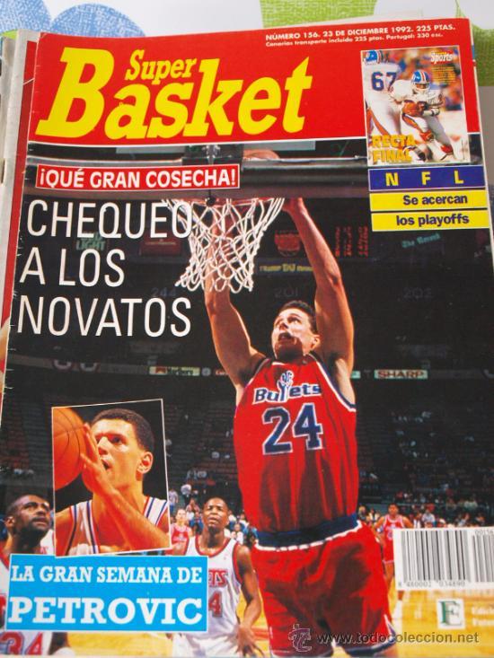 REVISTA BALONCESTO NBA 1992 SUPERBASKET 156 DRAZEN PETROVIC TOM GUGLIOTTA BULLETS (Coleccionismo Deportivo - Revistas y Periódicos - otros Deportes)
