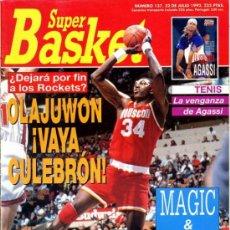 Coleccionismo deportivo: REVISTA BALONCESTO NBA 1992 SUPERBASKET 137 OLAJUWON HOUSTON ROCKETS . Lote 34639685