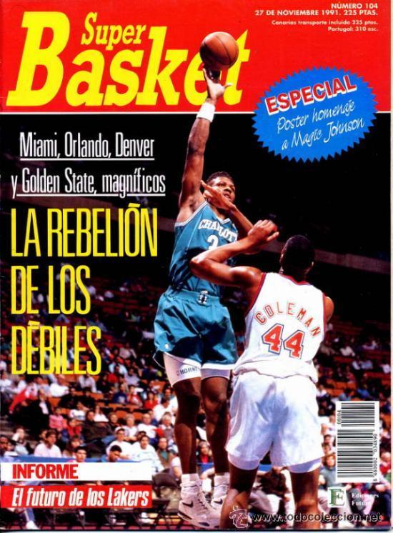 REVISTA BALONCESTO NBA 1991 SUPERBASKET 104 POSTER HOMENAJE MAGIC JOHNSON LAKERS (Coleccionismo Deportivo - Revistas y Periódicos - otros Deportes)