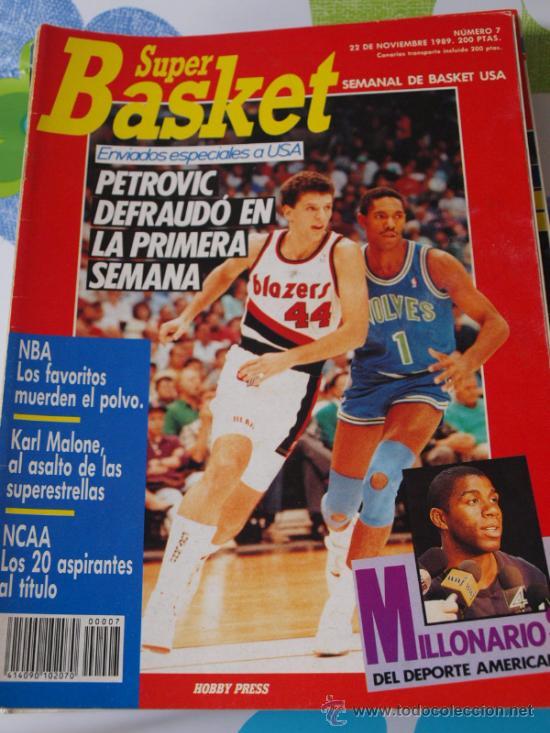 REVISTA BALONCESTO NBA 1991 SUPERBASKET 7 DRAZEN PETROVIC PORTLAND BLAZERS (Coleccionismo Deportivo - Revistas y Periódicos - otros Deportes)