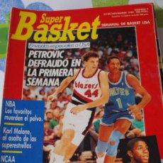 Coleccionismo deportivo: REVISTA BALONCESTO NBA 1991 SUPERBASKET 7 DRAZEN PETROVIC PORTLAND BLAZERS . Lote 34640165