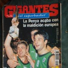 Coleccionismo deportivo: REVISTA BALONCESTO GIGANTES BASKET 443 JOVENTUT PENYA CAMPEON COPA EUROPA 1994 VILLACAMPA JOFRESA . Lote 43448272