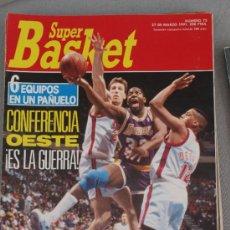 Coleccionismo deportivo: REVISTA BALONCESTO NBA 1991 SUPERBASKET 73 MAGIC JOHNSON LAKERS. Lote 34649003