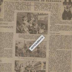 Coleccionismo deportivo: REVISTA AÑO 1944 HISTORIA DE LA COMPARSA DE GIGANTES Y CABEZUDOS DE ZARAGOZA LUCHA LIBRE FOTOS . Lote 35543430