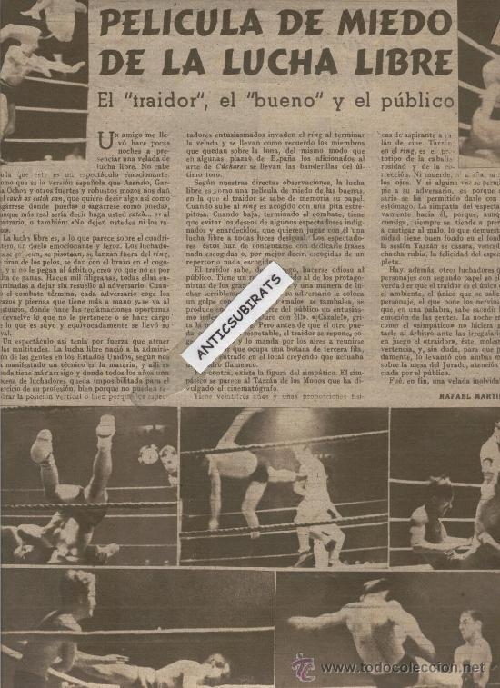 Coleccionismo deportivo: REVISTA AÑO 1944 HISTORIA DE LA COMPARSA DE GIGANTES Y CABEZUDOS DE ZARAGOZA LUCHA LIBRE FOTOS - Foto 2 - 35543430