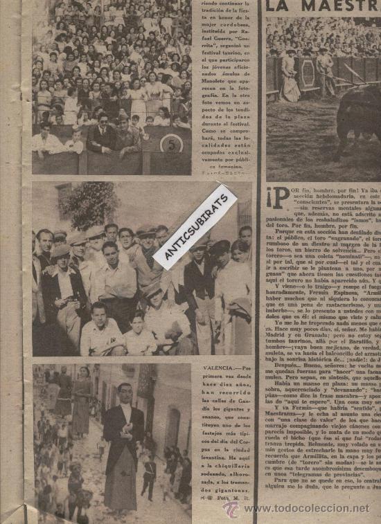 REVISTA AÑO 1945. LA ARMONICA FOTO CORPUS EN ALBOX GIGANTES DE GANDIA INVENTOR DEL BALONCESTO NAISMI (Coleccionismo Deportivo - Revistas y Periódicos - otros Deportes)