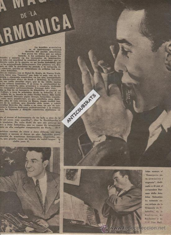 Coleccionismo deportivo: REVISTA AÑO 1945. LA ARMONICA FOTO CORPUS EN ALBOX GIGANTES DE GANDIA INVENTOR DEL BALONCESTO NAISMI - Foto 2 - 35543467