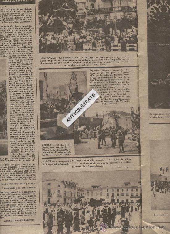 Coleccionismo deportivo: REVISTA AÑO 1945. LA ARMONICA FOTO CORPUS EN ALBOX GIGANTES DE GANDIA INVENTOR DEL BALONCESTO NAISMI - Foto 3 - 35543467