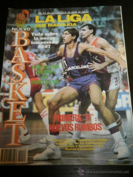 NUEVO BASKET Nº. 148 - SEPTIEMBRE 1986 - PLAYOFF /ACB / NBA / CBA /FERNANDO MARTIN / NUEVA TEMPORADA (Coleccionismo Deportivo - Revistas y Periódicos - otros Deportes)